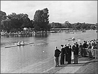Olympic rowing at Henley in 1948