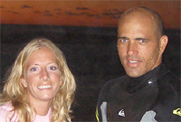 Chelle with Kelly Slater