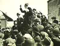 Image of John Dillon addressing Longford by-election meeting in 1917