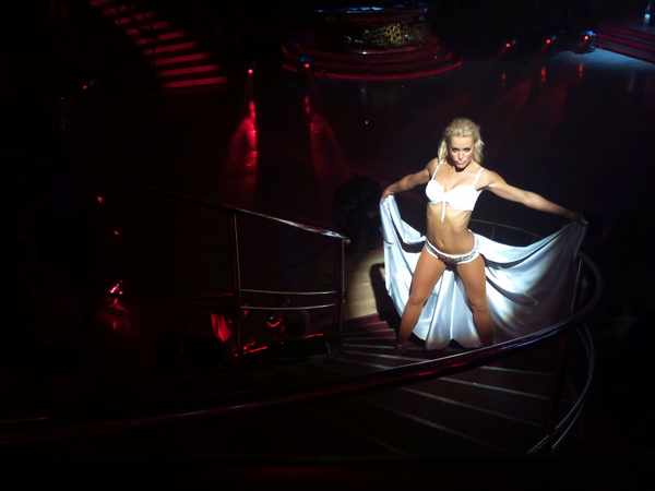Natalie Lowe in the Strictly Come Dancing dress rehearsal