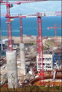 Construction at Flamanville nuclear site