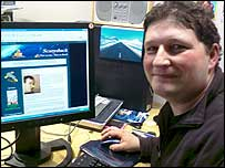 Alistair Coleman with his blog