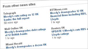 Screenshot of BBC News external links