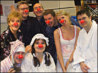 Some of BBC Radio Devon's presenters don pyjamas and red noses for Comic Relief!