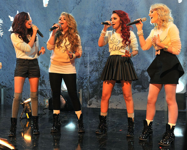 Little Mix on Top of the Pops Christmas special