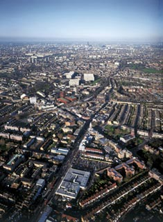 Aerial view of Brixton.