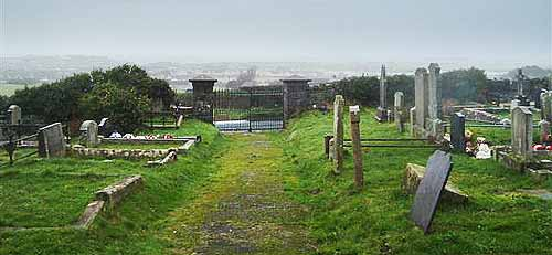 General view from the graveyard at Ballywillan