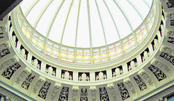 The glass dome inside  the Ulster Bank buidling, Waring St.