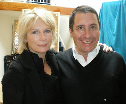 Jennifer Saunders with Jools Holland