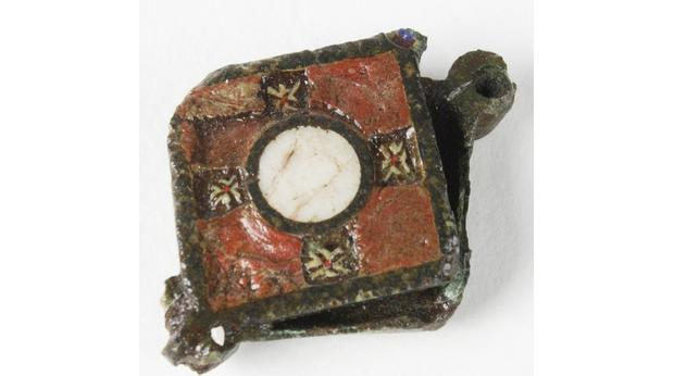 Roman enamelled seal box