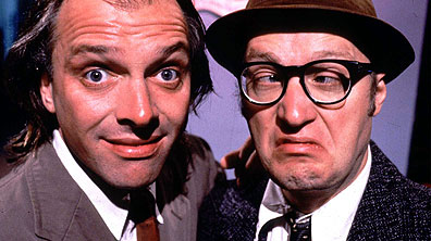 Rik Mayall as Richie and Adrian Edmondson as Eddie