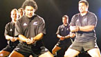Haka performed by Manaia Maori group for Lions tour to New Zealand