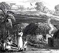 Image of an early 19th-century field workers, St Johns, Antigua