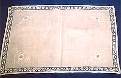 Irish whitework with drawn thread work edging, produced by Thelma Goldring