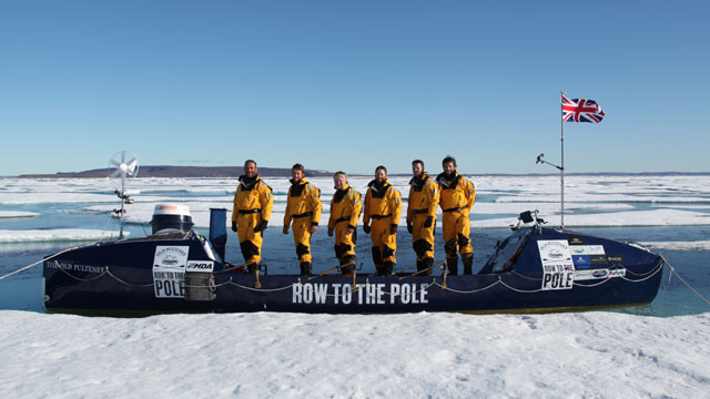 The Crew of the Ice Boat that rowed to the 96 Magnetic Pole location