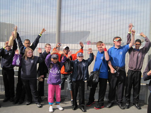 Children from St Luke's school attend the Paralympic Games