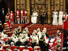 Queen's Speech being read out in House of Lords