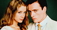 Mira Sorvino as Daisy Buchanan and Toby Stephens as Gatsby from the BBC adaptation of The Great Gatsby.