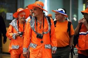Fans arrive in Johannesburg for the World Cup final - Gianluigi Guercia/AFP/Getty Images