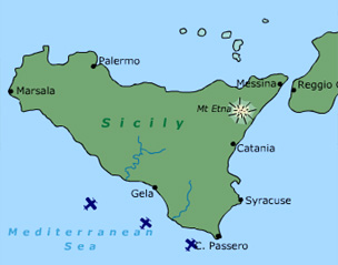 Sicily On Map Of Italy.Bbc History World Wars Animated Map The Italian Campaign