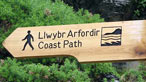 Coastal path sign