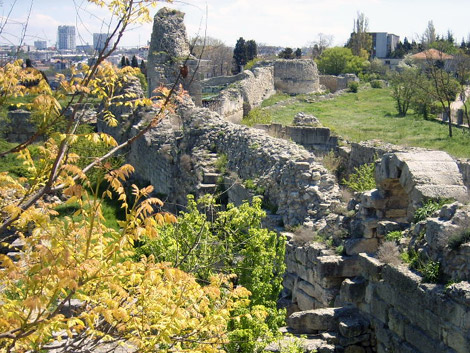 Ancient walls overlooking Sevastopol in Ukraine