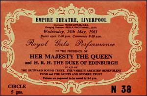 An invite to a Royal Gala Performance