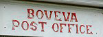 Boveva Post Office Sign