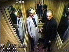 Princess Diana and Dodi Al Fayed CCTV image