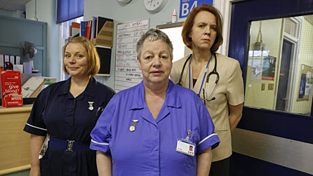 Joanna Scanlan, Jo Brand and Vicki Pepperdine are reunited on the female medical ward