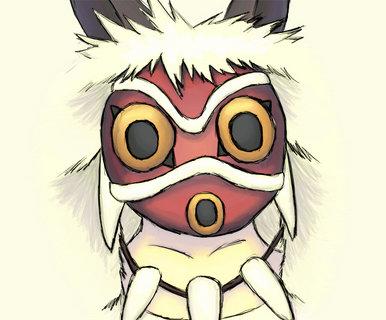 princess mononoke mask meaning