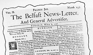 earliest copy of the news letter