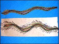 Rupal's Lace Snake Bookmark
