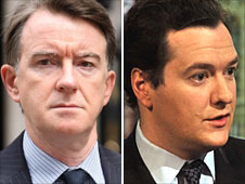 Peter Mandelson and George Osborne