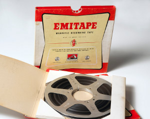 Photo of the original 1958 recording tape