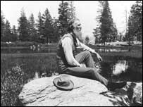 John Muir in Yosemite. Photo courtesy of East Lothian Council