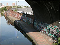 The canal system at Digbeth's heart