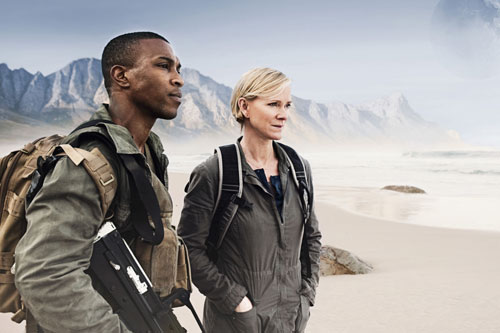 Ashley Walters as Jack Holt and Hermione Norris as Stella Isen