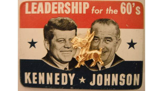 JFK/Johnson election campaign badge