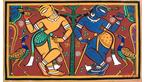 Krisna and Balarama by Jamini Roy