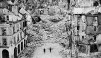The bomb-shattered streets of Falaise
