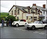 Classic cars in the village