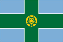 The Derbyshire flag