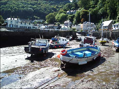 Boats in Lynmouth harbour
