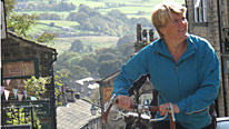 Clare Balding takes it easy in hilly West Yorkshire