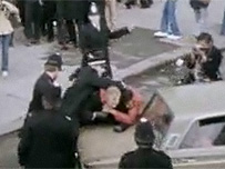 Protesters and police clash in Southall in 1979