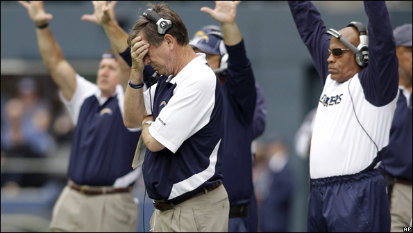 Norv Turner has been heavily criticised for the Chargers' poor start to the season