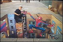 Spiderman copyright Julian Beever