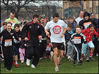 Sport Relief at the Sir David English Sports Centr