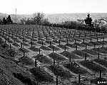 View of the cemetery at the Hadamar Institute, where victims of the Nazi euthanasia program were buried in mass graves. © United States Holocaust Memorial Museum (USHMM)